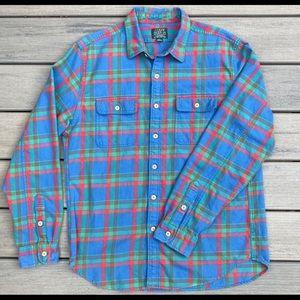 J.Crew Men's Large Plaid 100%Cotton Shirt
